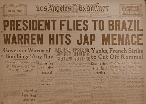 O presidente americano Roosevelt voa para Natal...