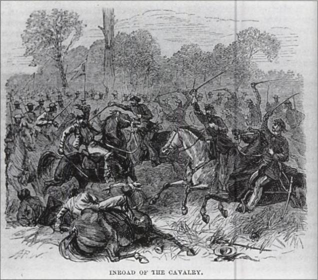 Combate de cavalaria durante a guerra do Paraguai