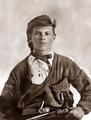 Jesse James como um jovem guerrilheiro