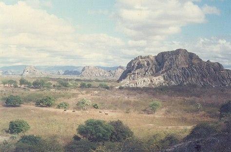 Os monólitos da Região Central do Ceará. Bela paisagem. Em Quixadá.