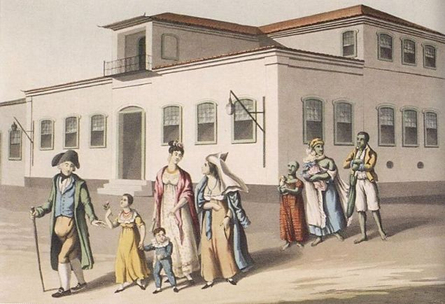 Familia_e_escravos_Brasil_1822