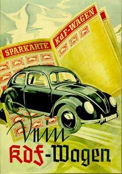 Anúncio ao KDF-Wagen mostrando a caderneta de poupança para organizar o pagamento do carrinho.