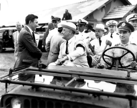 Roosevelt e Vargas em Natal e de Jipe.