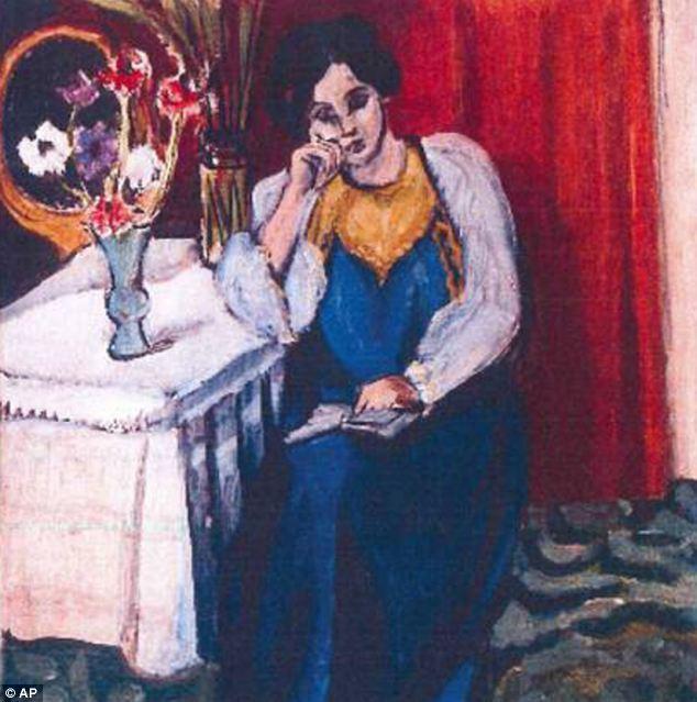Entre as obras recuperadas em Munique está este quadro do francês Henri Matisse.  Os historiadores de arte estão empolgados com a descoberta de uma pintura de Matisse esta.