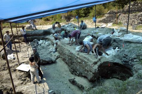 Escavações em Dmanisi.