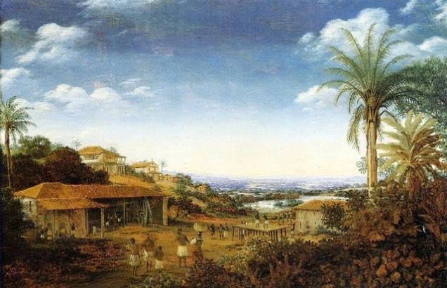 Imagem de Frasz Post, mostrando o que importava no Brasil para os holandeses