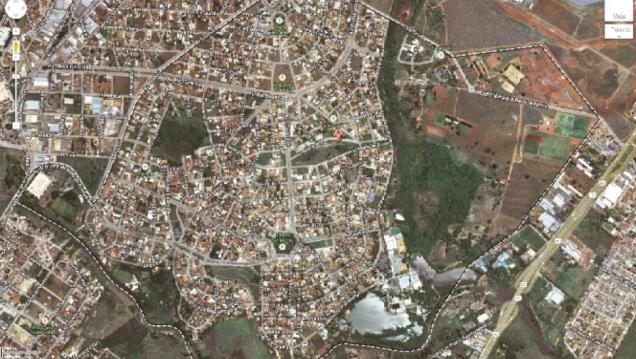Atual planta urbanística do Setor Jaó; bairro idealizado por prisioneiros alemães privilegia área verde do local