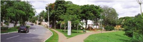 Parque Beija Flor; avenidas curvas e muita área verde ao estilo alemão