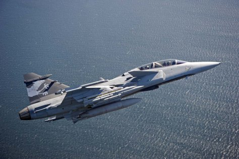 Swiss Pilots flies Gripen E/F Test Aircraft in Sweden