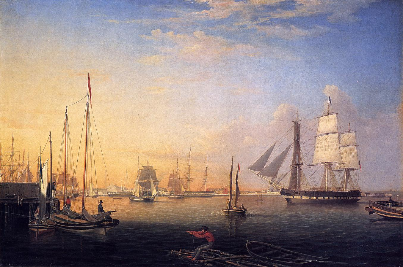 Porto de Baltimore, quadro de Fitz Hugh Lane