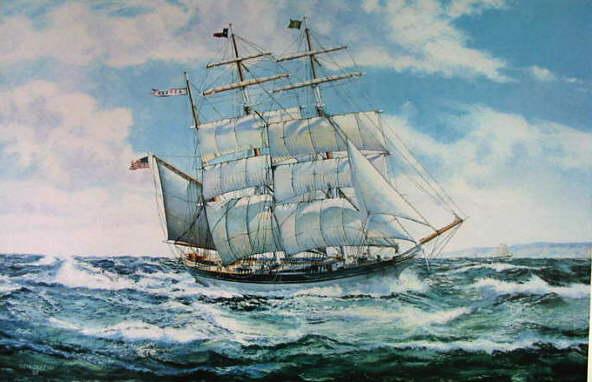 Típico padrão de uma barca americana