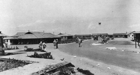 Base Aérea de Acra durante a Guerra. localizada na atual Gana, África, foi um dos destinos dos aviadores Aliados depois de partirem de Parnamirim