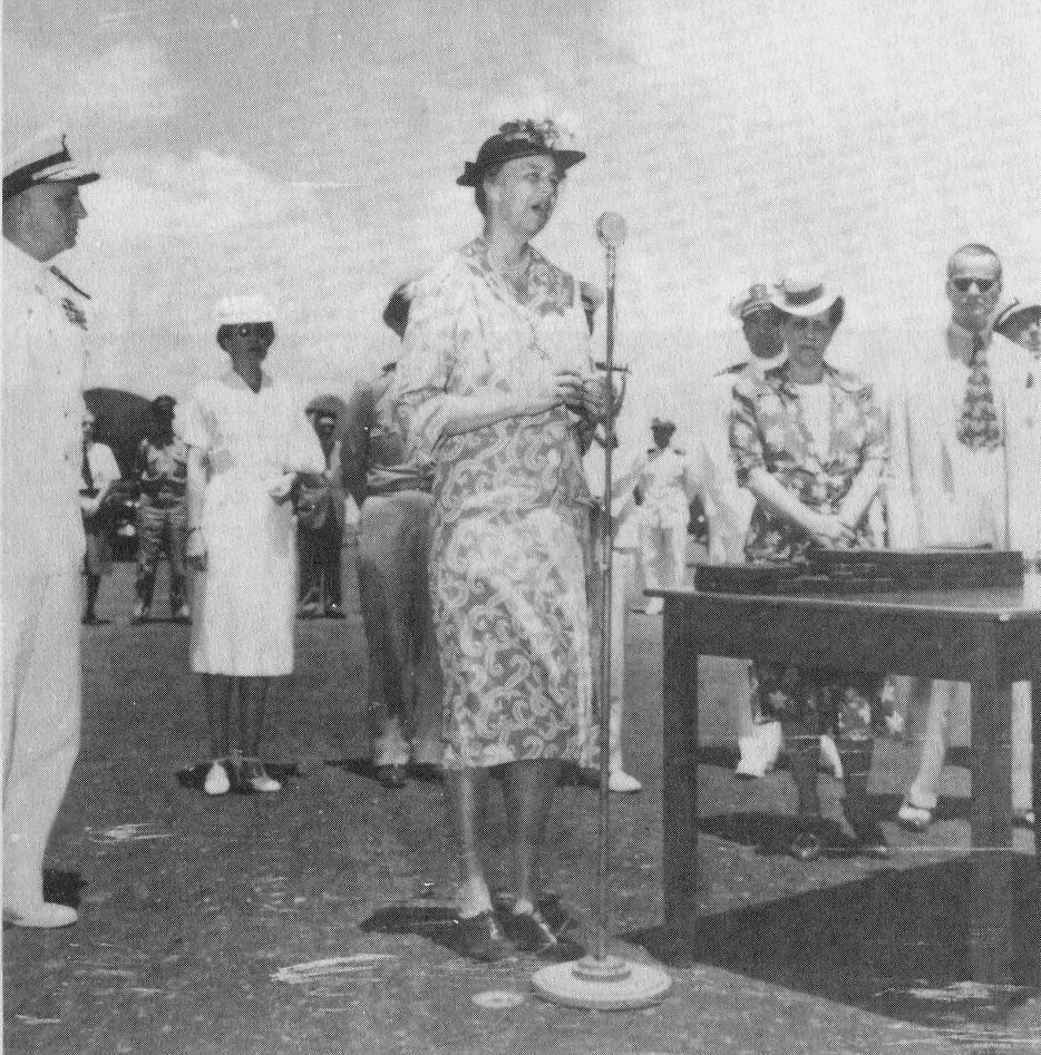 A importância de Parnamirim Field na época da Segunda Guerra pode ser medido pelo número de pessoas de importância política internacional que aqui estiveram. Como Eleanor Roosevelt que esteve na base em 1944