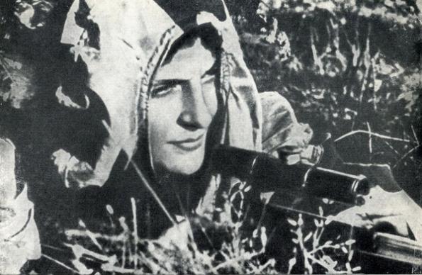 Lyudmila em ação.