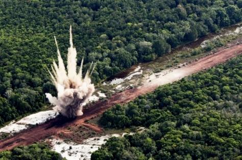 No ano passado, foram localizadas 60 pistas clandestinas na Região Norte; as de maior risco foram destruídas pela FAB- Johnson Barros / FAB