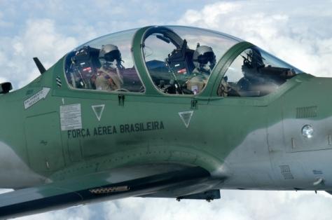 Detalhe da aeronave Super Tucano, o A-29, usado pela FAB- Paulo Marques / FAB