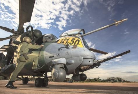 Helicóptero AH-2, usado pela FAB durante operações na fronteira- Johnson Barros/ FAB