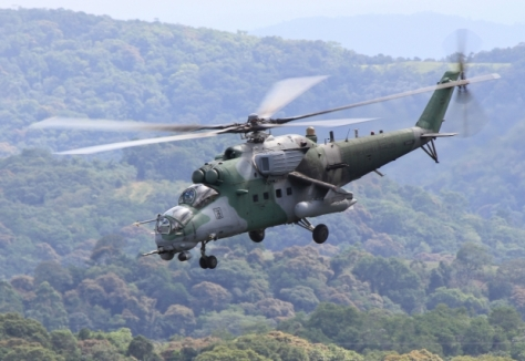Helicóptero de ataque da FAB, de fabricação russa,  participa da defesa aérea na Amazônia- Johnson Barros/FAB