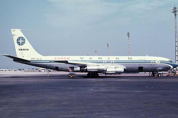 O Boeing 707-323 cargueiro (PP-VLU), desaparecido misteriosamente em 1979