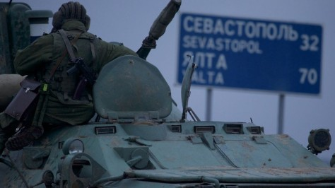 Blindado russo de transporte de pessoal na Crimeia. Uma nova guerra em 2014? Esperamos que não!