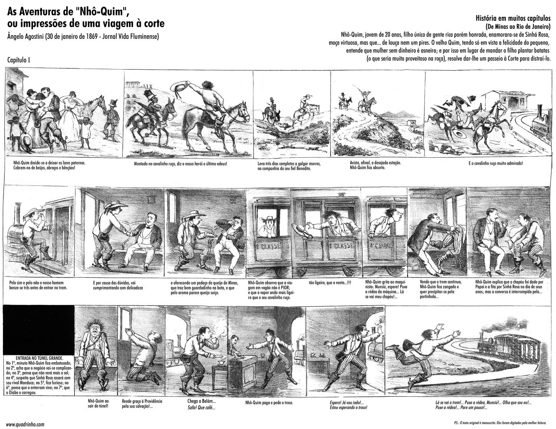 A primeira edição de Nho Quim foi publicada em 30 de janeiro de 1869. Clique para ampliar. (foto: Wikimedia Commons)