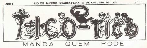 Logotipo da revista O Tico-tico. (foto: Wikimedia Commons)