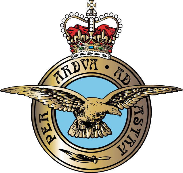 Símbolo, ou badge, oficial da RAF - Royal Air Force
