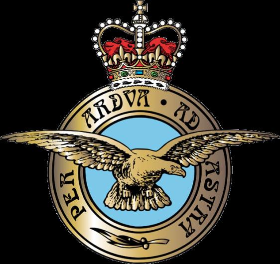 Símbolo, ou badge, oficial da RAF - Royal Air Force