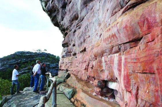 Lagoa da Velha: pinturas rupestres agora examinadas - Foto - SECULTBA