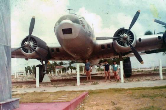 B-17 do Aero de Natal, em foto recuperada digitalmente pelo amigo Vicente Vazquez, da Associação Brasileira de Preservação Aeronáutica - ABRAPAER