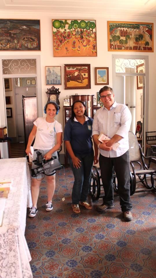 Na casa de Luís da Câmara Cascudo, atualmente Ludovicus - Instituto Câmara Cascudo, em Natal-RN.