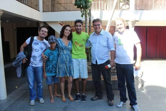 Com a galera que batalha pela cultura do RN e luta pelo nosso teatro. Com o amigo Luiz Claudio Daniel Daniel, no Teatro Alberto Maranhão.
