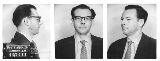 Perry Broad fichado pela polícia da Alemanha Ocidental - Fonte - collections.yadvashem.org
