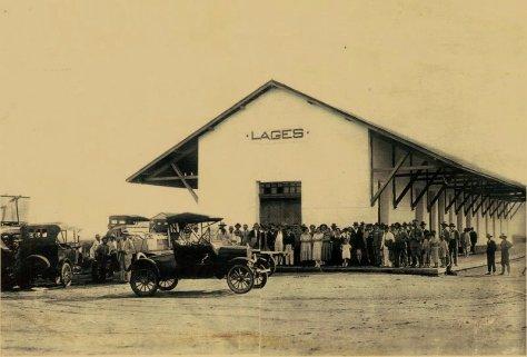Estação ferroviária de Lajes - Fonte - http://lajesnewsrn.blogspot.com.br/