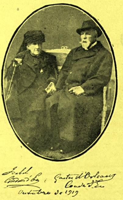 A Princesa Isabel e seu marido, em foto autografada de 1919, dois anos antes de sua morte.