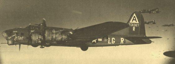 B-17 em ação sobre a Alemanha em 1944