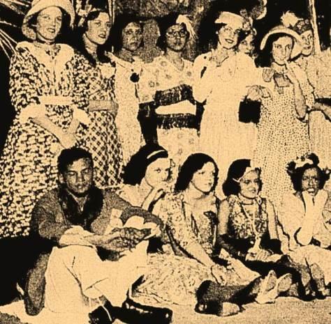 Atores e atrizes da Casa do Caboclo.