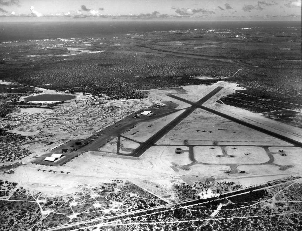 A grande base de Parnamirim Field durante a Segunda Guerra Mundial.