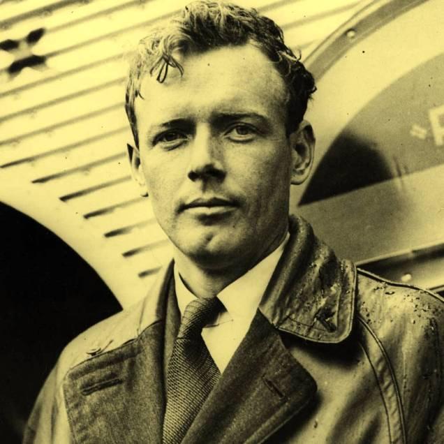 O aviador norte americano Charles Lindbergh. Ele esteve em Natal na década de 1930, realizando um Raid em um hidroavião monomotor, junto a com a sua esposa