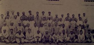 Na década de 1920 a Casa de Detenção de Recife se caracterizava por haver grupos de trabalhos, como este da gráfica e encadernação.
