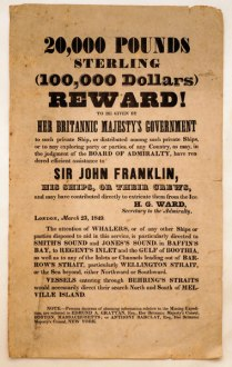 Cartaz produzido na época do desaparecimento, com uma recompensa de 100.000 dólares, uma verdadeira fortuna.