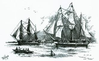 John-Franklin-Expedition-1845-Nordwestpassage-Erebus-and-Terror. Erebus and Terror – 1845