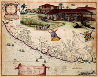 Mapa da região de Itamaracá