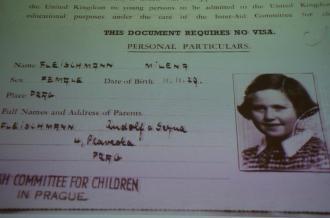 Ficha de uma das crianças salvas - Fonte - http://www.mzv.cz/