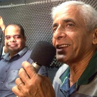 Radialista e Blogueiro Junior Alves e o poeta Dedé Monteiro - Foto Álvaro Severo