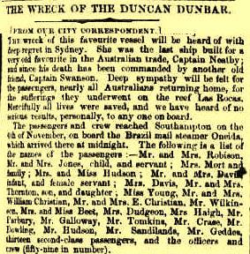 Destruição do Duncan Dumbar no jornal australiano The Sidney Morning Herald