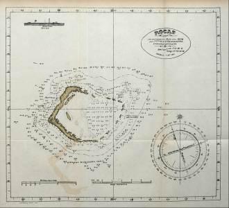 Mapa do Atol das Rocas produzido por Vital de Oliveira.