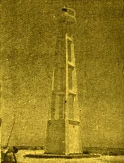 Base de farol erguida em 1934.