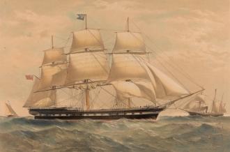 O barco Duncan Dunbar - Fonte - http://www.19thcenturyshipportraitsinprints.com/
