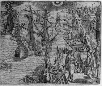 Theodore_de_Bry_harbour_scene_1593